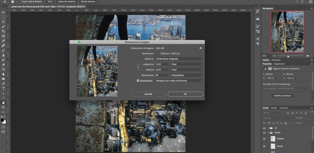 Come ridimensionare le immagini con Photoshop