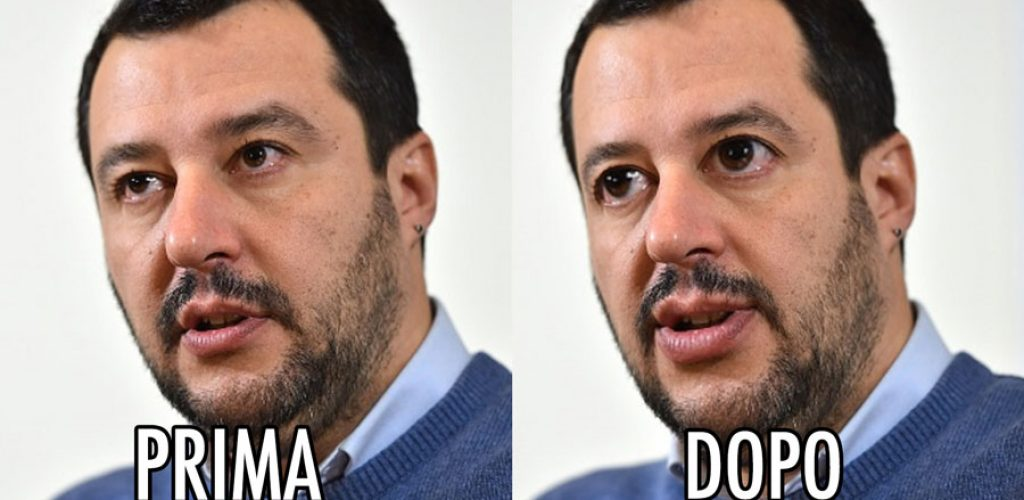 Matteo Salvini Lega Nord modificato Photoshop