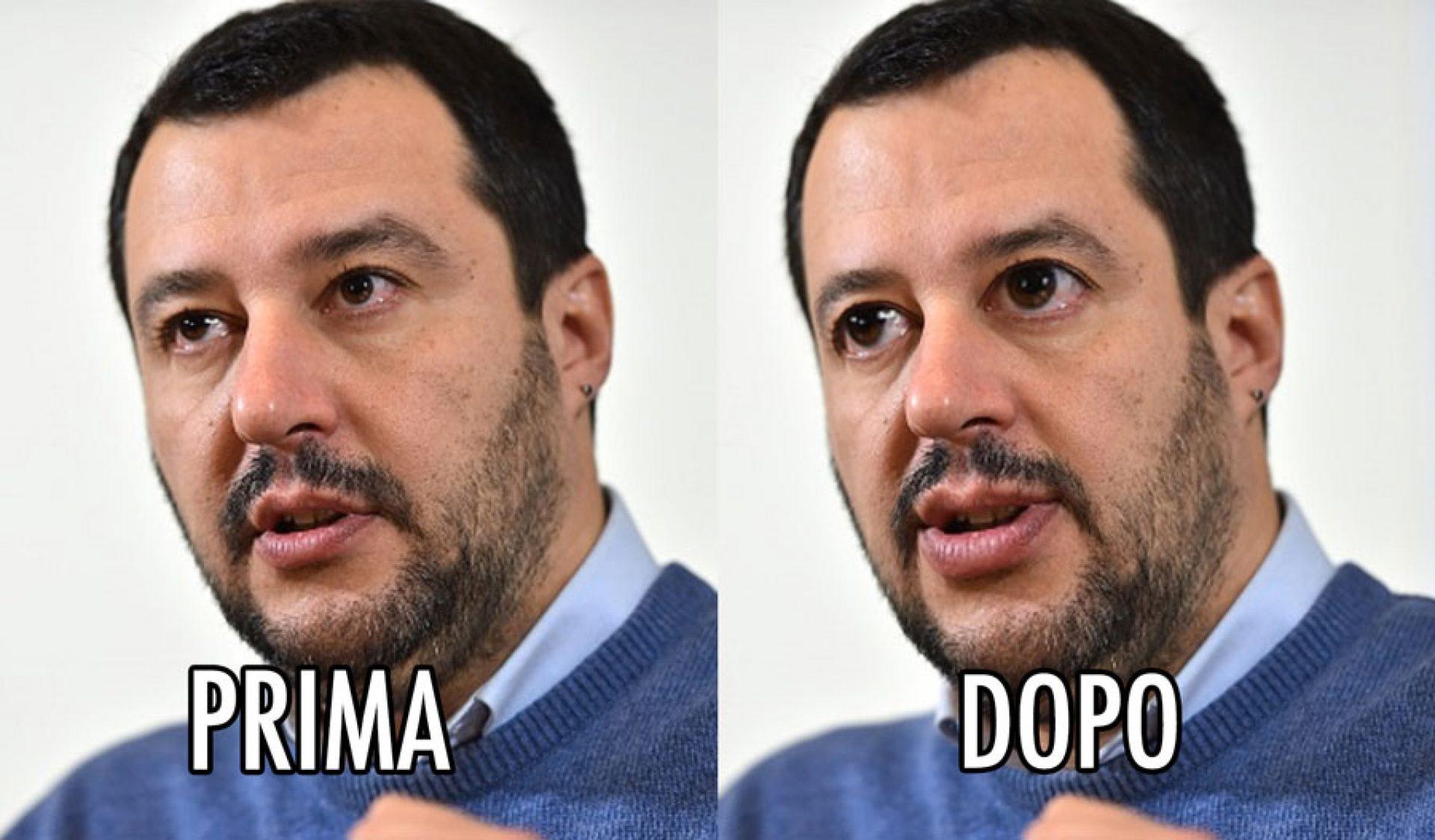 Matteo Salvini Lega Nord modificato Photoshop