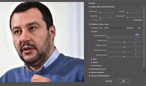 Modificare la grandezza degli occhi con Photoshop