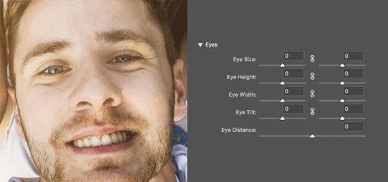 Modificare occhi - Fluidifica in base al volto Photoshop