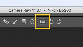 Preferenze Photoshop Camera Raw